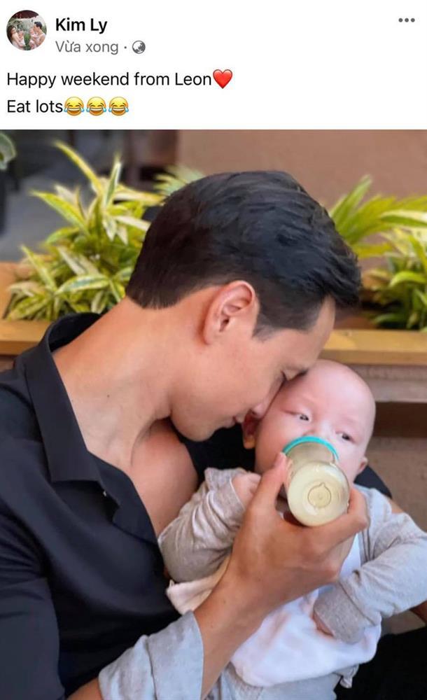 Hồ Ngọc Hà tiết lộ khoảnh khắc ngộ nghĩnh khi Kim Lý chăm con, đáng chú ý là biểu cảm của bé Leon-2