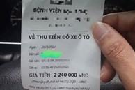 Xôn xao hóa đơn gửi ô tô trong bệnh viện ở Hà Nội lên tới hơn 2 triệu đồng, bệnh viện có thu phí đúng quy định?