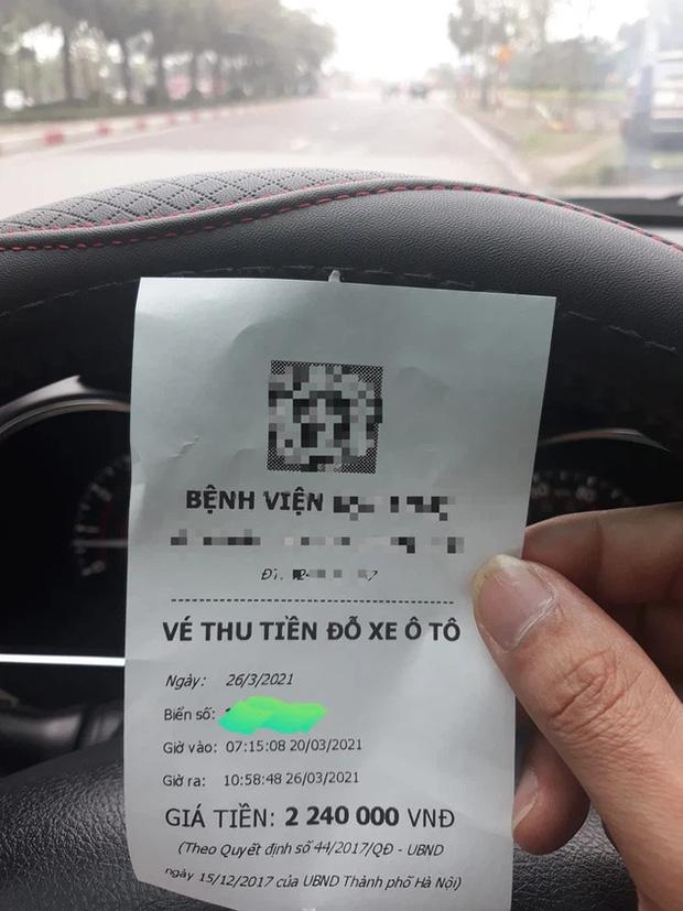 Xôn xao hóa đơn gửi ô tô trong bệnh viện ở Hà Nội lên tới hơn 2 triệu đồng, bệnh viện có thu phí đúng quy định?-1