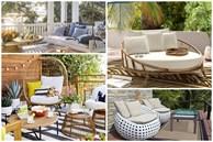Ý tưởng chỗ ngồi ngoài trời thay thế cho không gian nóng bức trong nhà, nhìn sang trọng, phong cách thế này mùa hè oi bức có là gì