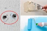 7 cách để loại bỏ lỗ đóng đinh trên tường, mọi dấu vết trở nên phẳng mịn như chưa bao giờ bị khoan