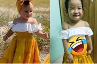 Nhận chiếc váy điệu đà mua qua mạng cho con, mẹ trẻ hí hửng mặc thử cho bé và cái kết khiến hai mẹ con cười muốn xỉu