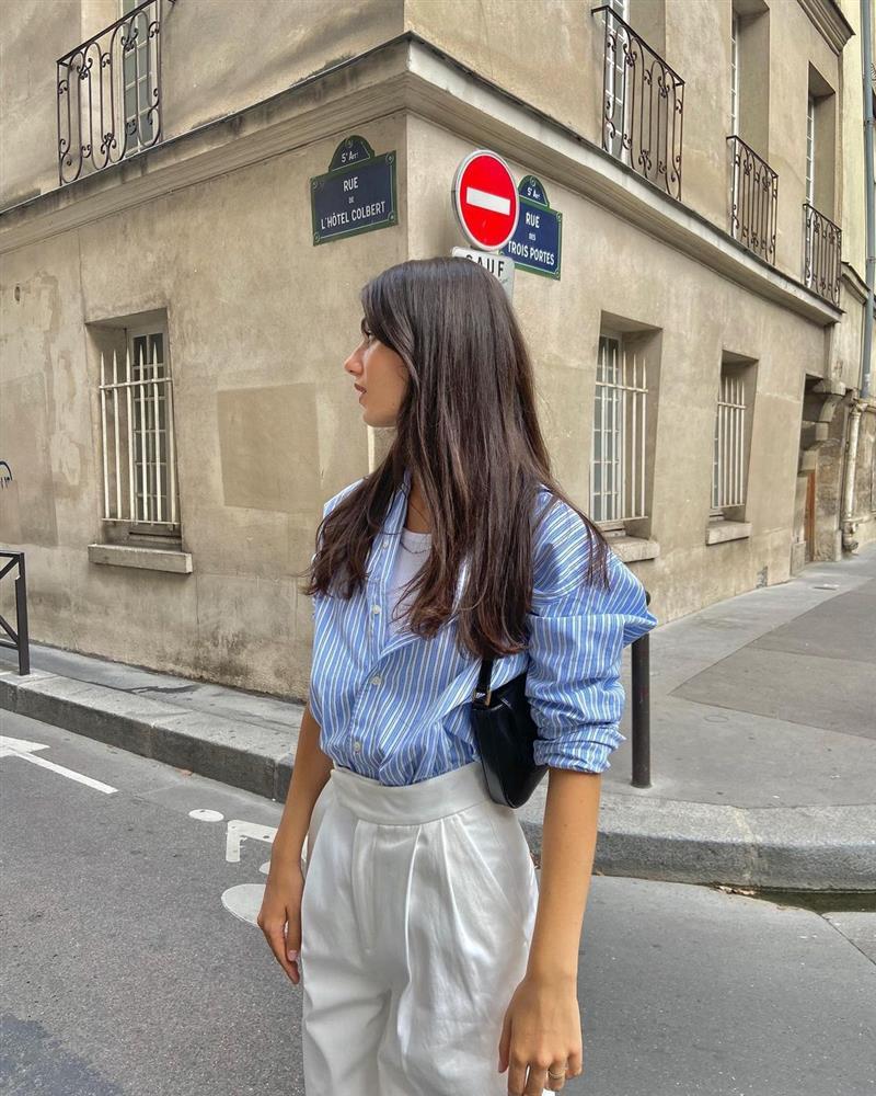5 kiểu áo sơ mi chân ái của gái Pháp, lên đồ đơn giản cũng đạt tròn 100 điểm tinh tế-6