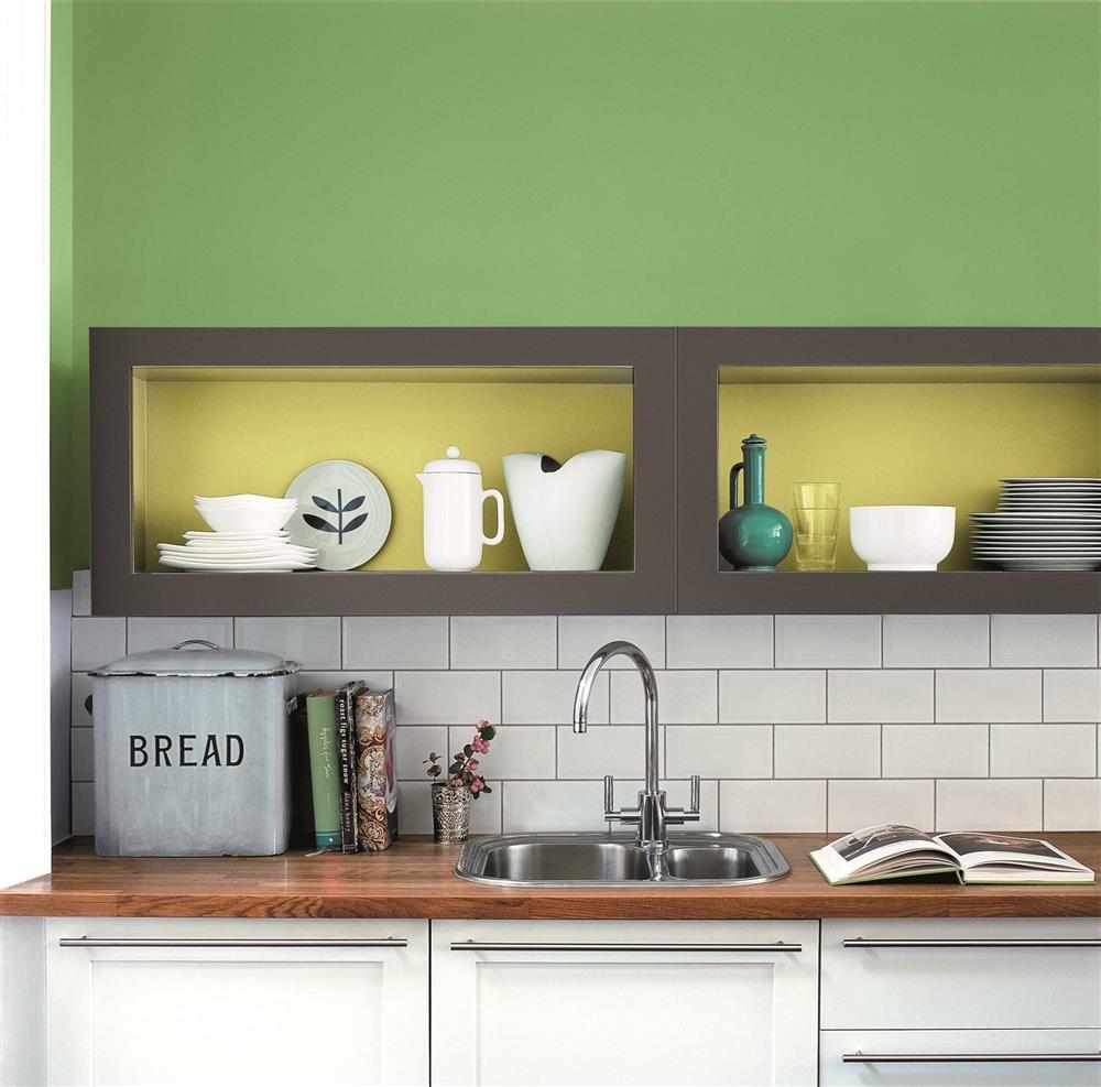 9 màu sơn xanh lá cây cần để mắt tới giúp căn bếp nhà bạn luôn mát mẻ mà không bao giờ bị lỗi mốt-10
