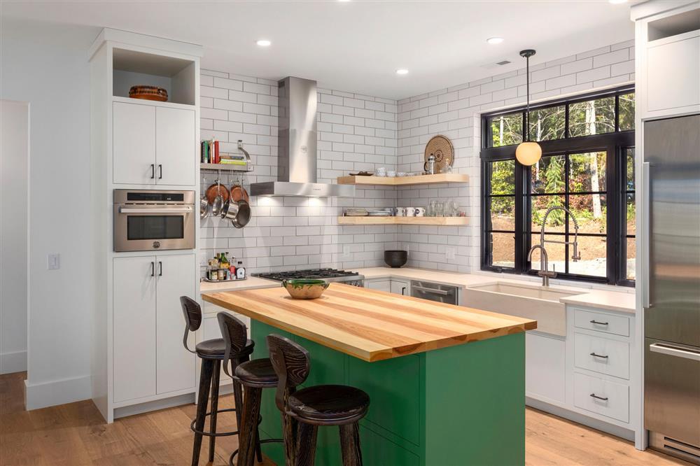 9 màu sơn xanh lá cây cần để mắt tới giúp căn bếp nhà bạn luôn mát mẻ mà không bao giờ bị lỗi mốt-4