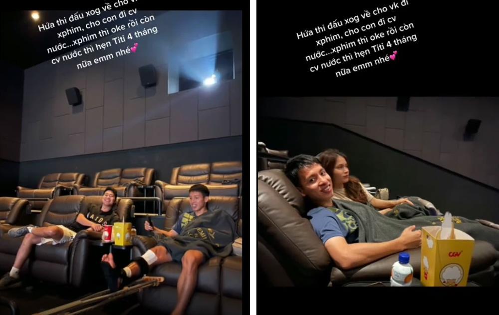 Hùng Dũng đưa vợ đi xem phim trong hoàn cảnh trớ trêu, hứa dẫn con trai đi công viên nước khi chân lành-1