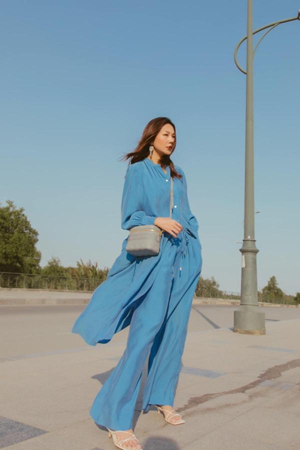 Mùa hè học sao Việt cách phối đồ sắc xanh mát lịm tim, phụ kiện đi kèm cũng là thứ nàng công sở không nên bỏ qua-4