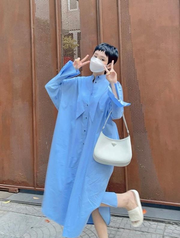 Mùa hè học sao Việt cách phối đồ sắc xanh mát lịm tim, phụ kiện đi kèm cũng là thứ nàng công sở không nên bỏ qua-5