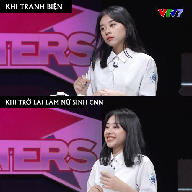 Xuất hiện trên sóng truyền hình VTV7, nữ sinh Hà Nội gây bão vì xinh ơi là xinh, ngó sang thành tích học tập lại càng bái phục-2