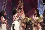 Hoa hậu Sri Lanka bị giật vương miện thô bạo khi vừa đăng quang