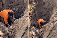 Sự thật đoạn clip đang đào đường ở Hà Nội thì phát hiện 'một người dưới lòng đất'