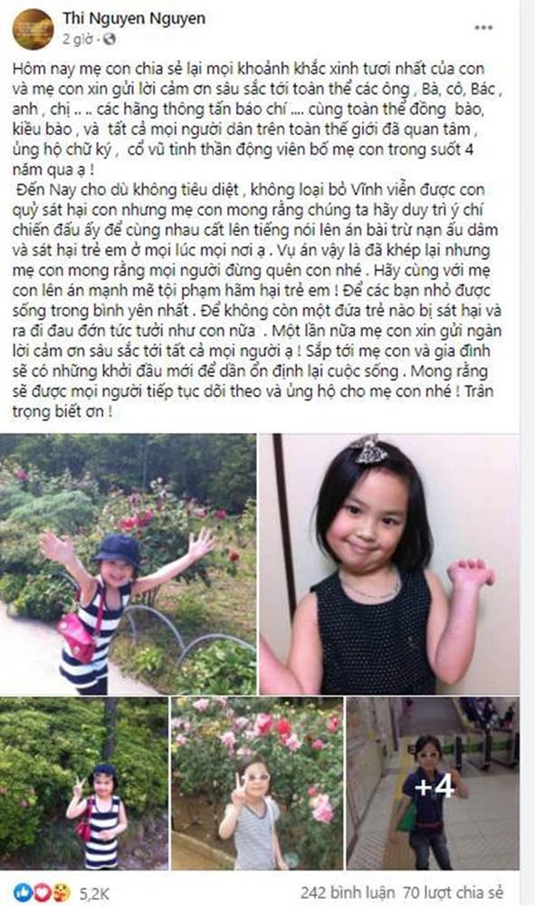 Chia sẻ xót xa của mẹ bé Nhật Linh khi vụ án không còn cơ hội kháng cáo: Xin lỗi con! Bố mẹ đã hết cách rồi-2