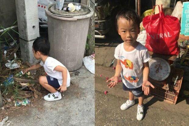 Mẹ cho con trai 5 tuổi đi nhặt ve chai 1 ngày vì không chịu đi học, cậu bé dường như kiệt sức nhưng nhận về bài học cuộc sống quý giá-1