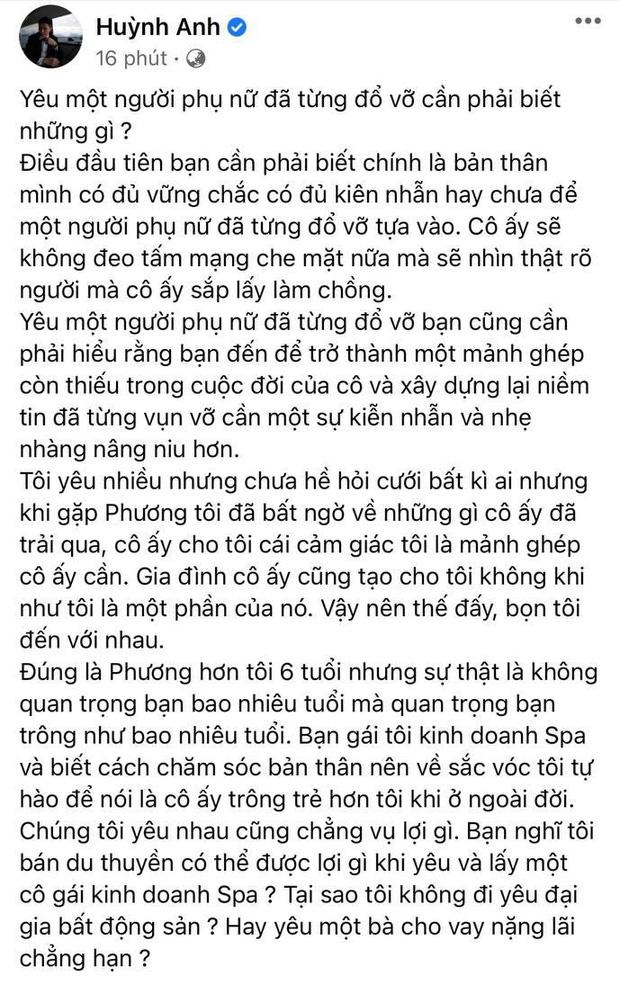 Huỳnh Anh làm rõ lý do cầu hôn bạn gái single mom và nghi vấn hôn thê có gia thế liên quan đến 1 trong 4 người giàu nhất Việt Nam-1