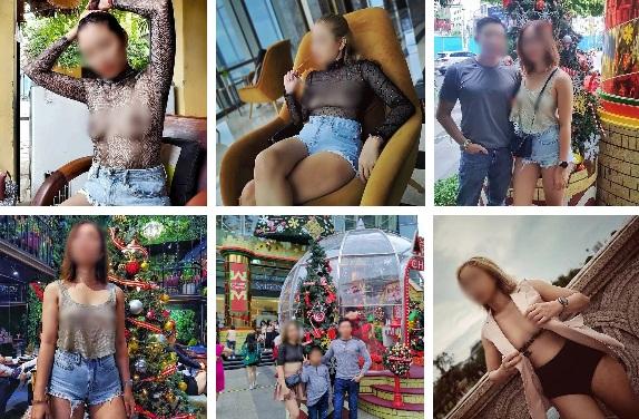Người phụ nữ ở Sài Gòn từng gây bão vì để ngực trần đưa gia đình đi khắp nơi tiếp tục bị chỉ trích vì mặc áo màu da lộ rõ vòng 1 đi ăn hàng-1