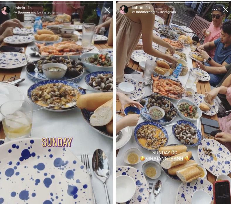 Linh Rin dự tiệc cuối tuần ở biệt thự gia đình Hà Tăng, suất con dâu tỷ phú chắc tay quá luôn-2