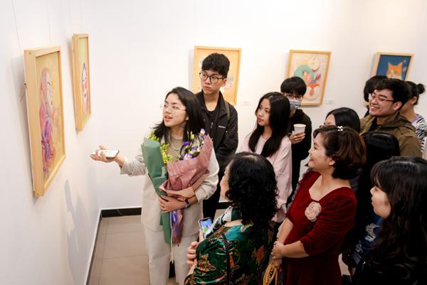 Hồi Hải Mã - triển lãm tranh của 8 tài năng trẻ Vinschool-3