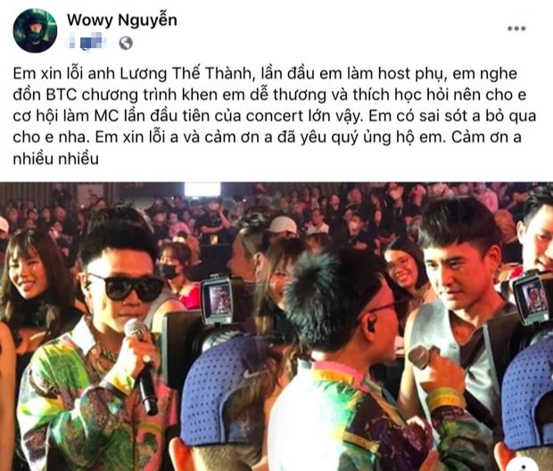 Lương Thế Thành lên tiếng khi bị Wowy gọi sai tên tại concert Rap Việt, cách xử lý được công chúng khen ngợi rần rần-2