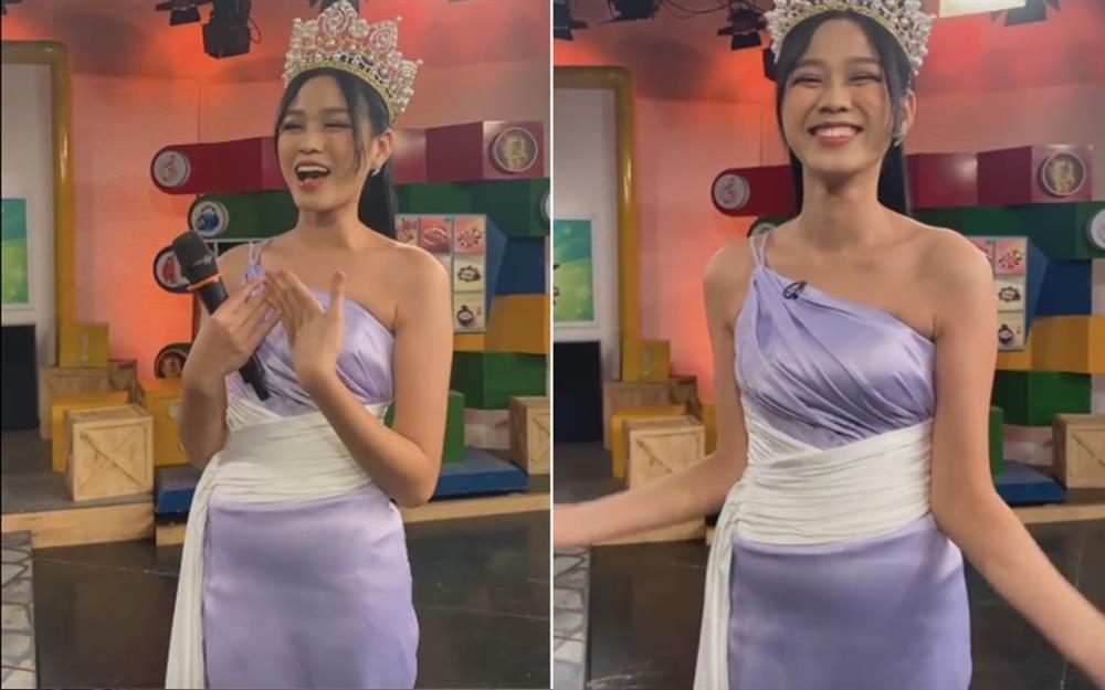 Đỗ Thị Hà lộ miếng dán ngực kém duyên trên sóng truyền hình-6