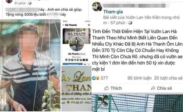 Đồn đoán chủ vườn lan đột biến ở Hà Nội ôm hàng trăm tỷ bỏ trốn: Chủ vườn lan từng làm lái xe 3 bánh-1