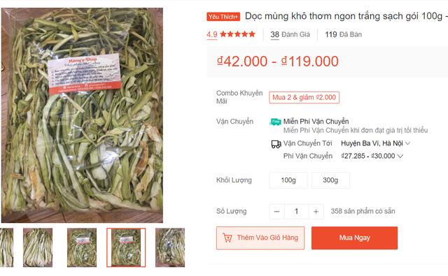 Dọc mùng sấy khô thành đặc sản nơi phố thị, hét giá 300.000 đồng/kg-2
