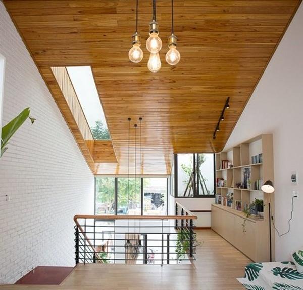 Căn nhà ống 2 tầng tràn ngập ánh sáng, khoảng vườn xanh mát giữa nhà khiến ai cũng mê mẩn-7