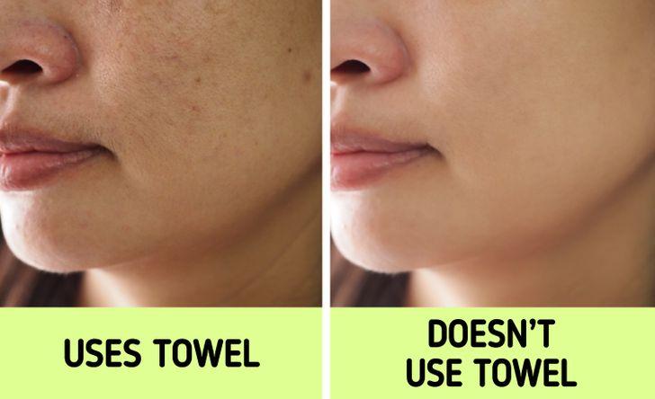 Nếu biết lý do khiến làn da ngày càng nhăn nheo mụn nhọt, bạn sẽ cạch đến già việc dùng khăn lau khô mặt-2