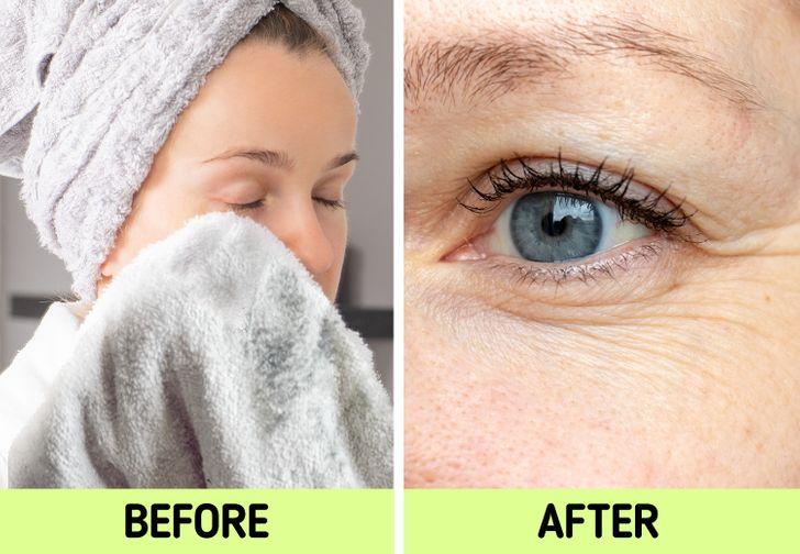 Nếu biết lý do khiến làn da ngày càng nhăn nheo mụn nhọt, bạn sẽ cạch đến già việc dùng khăn lau khô mặt-3