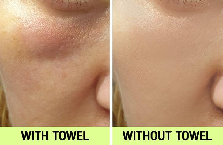 Nếu biết lý do khiến làn da ngày càng nhăn nheo mụn nhọt, bạn sẽ cạch đến già việc dùng khăn lau khô mặt-6
