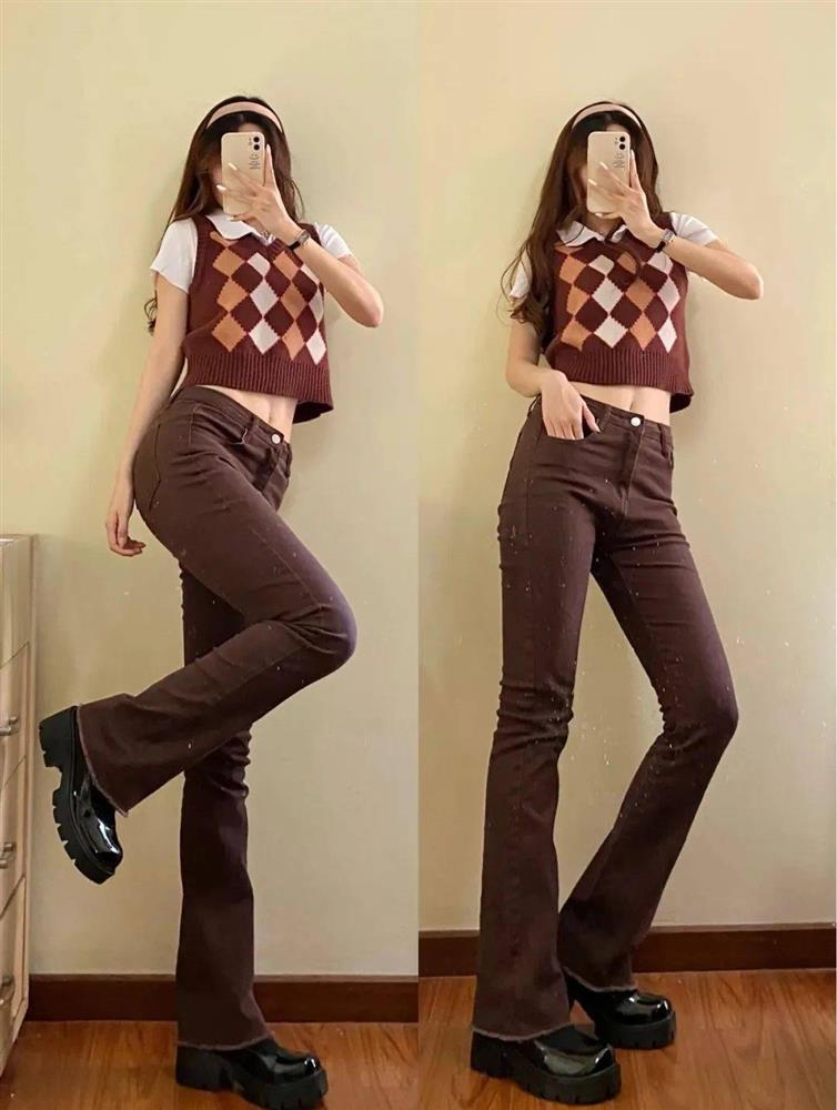 Kiểu quần jeans hack dáng cực đỉnh, vừa dài chân vừa tôn vòng 3 đỉnh của chóp đó các chị em-2
