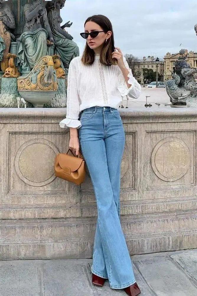 Kiểu quần jeans hack dáng cực đỉnh, vừa dài chân vừa tôn vòng 3 đỉnh của chóp đó các chị em-8