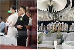 Cập nhật thánh lễ hôn phối Phan Mạnh Quỳnh: Cô dâu xinh đẹp trong tà áo dài, chú rể chăm vợ từng li từng tí ở lễ đường hoành tráng