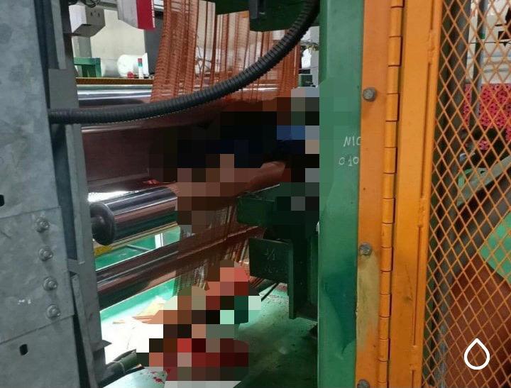 Thương tâm nam công nhân bị cuốn vào máy làm sợi lốp ô tô dẫn đến tử vong-1