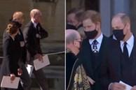 Hoàng tử William và Harry lần đầu xuất hiện cùng nhau tại tang lễ Hoàng tế Philip, chủ động trò chuyện khiến người hâm mộ vui mừng