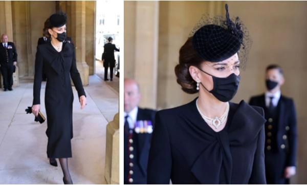 Xem trang phục của Kate Middleton trong tang lễ Hoàng tế Philip, để thấy cô được lòng Nữ hoàng Anh như thế nào-5