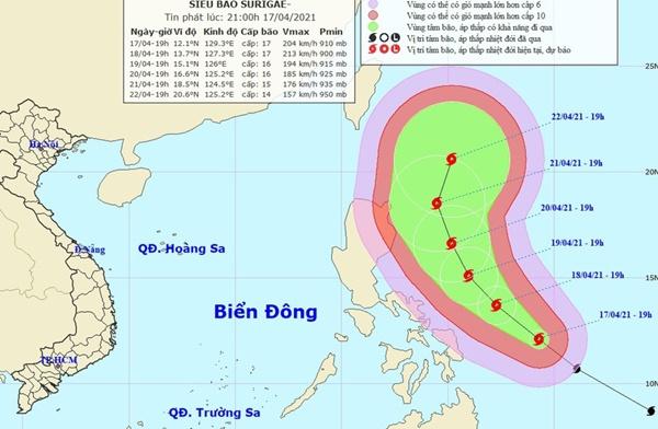 Siêu bão cấp 17 hình thành gần Biển Đông-1