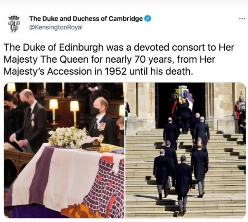 Động thái đầu tiên của Nữ hoàng Anh sau tang lễ Hoàng tế Philip khiến ai cũng đau nhói, nhà Công nương Kate có chia sẻ đầy tinh tế-3