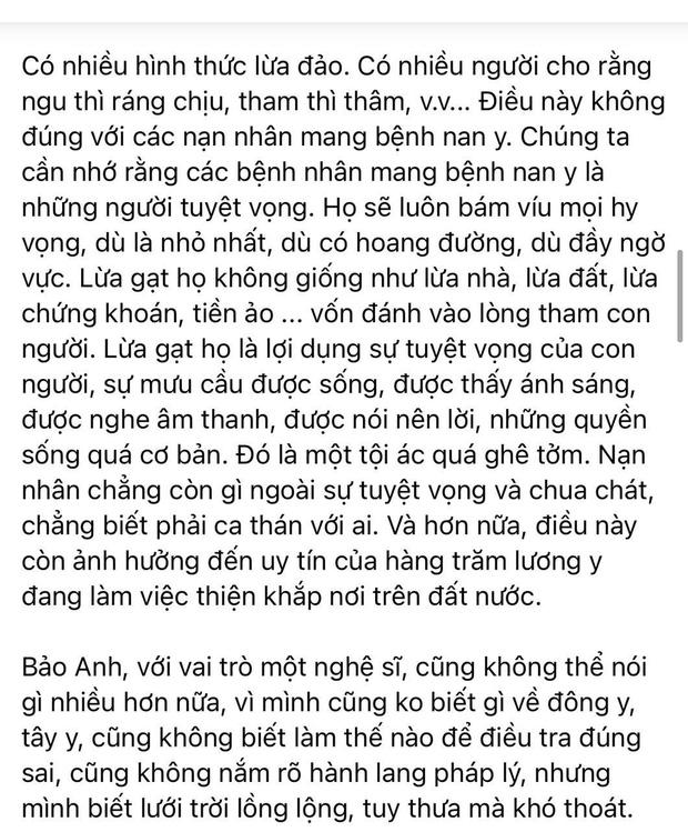 """Bảo Anh phản hồi về status nghi nhắn nhủ tới vợ Dũng lò vôi"""", nói rõ lý do không lên tiếng thay cho NS Hoài Linh-3"""