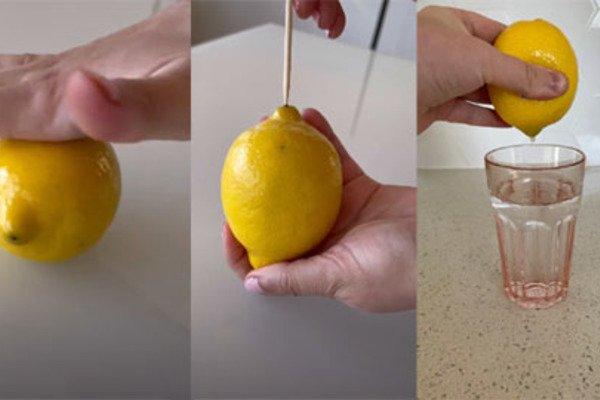 Mẹo hay vắt chanh không cần cắt vừa lấy triệt để nước, vừa tách được hạt-1