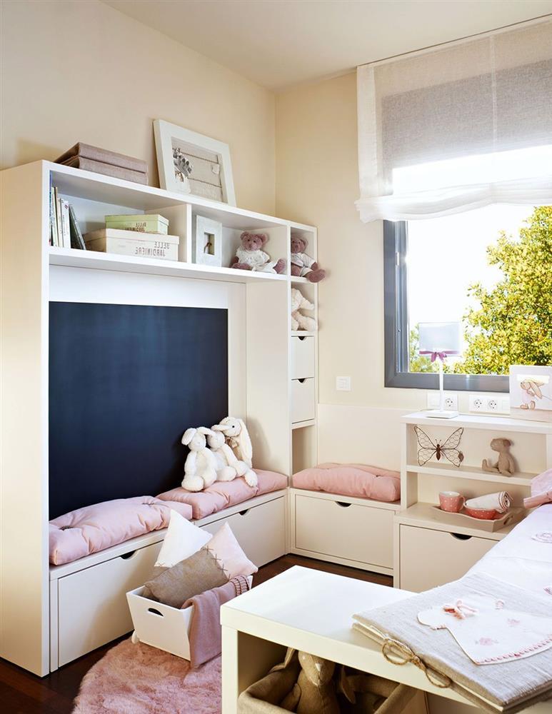 Cải tạo phòng ngủ cho bé gái: Bố mẹ chẳng cần cầu kỳ hoặc đầu tư tốn kém mà vẫn khiến con thích mê-7