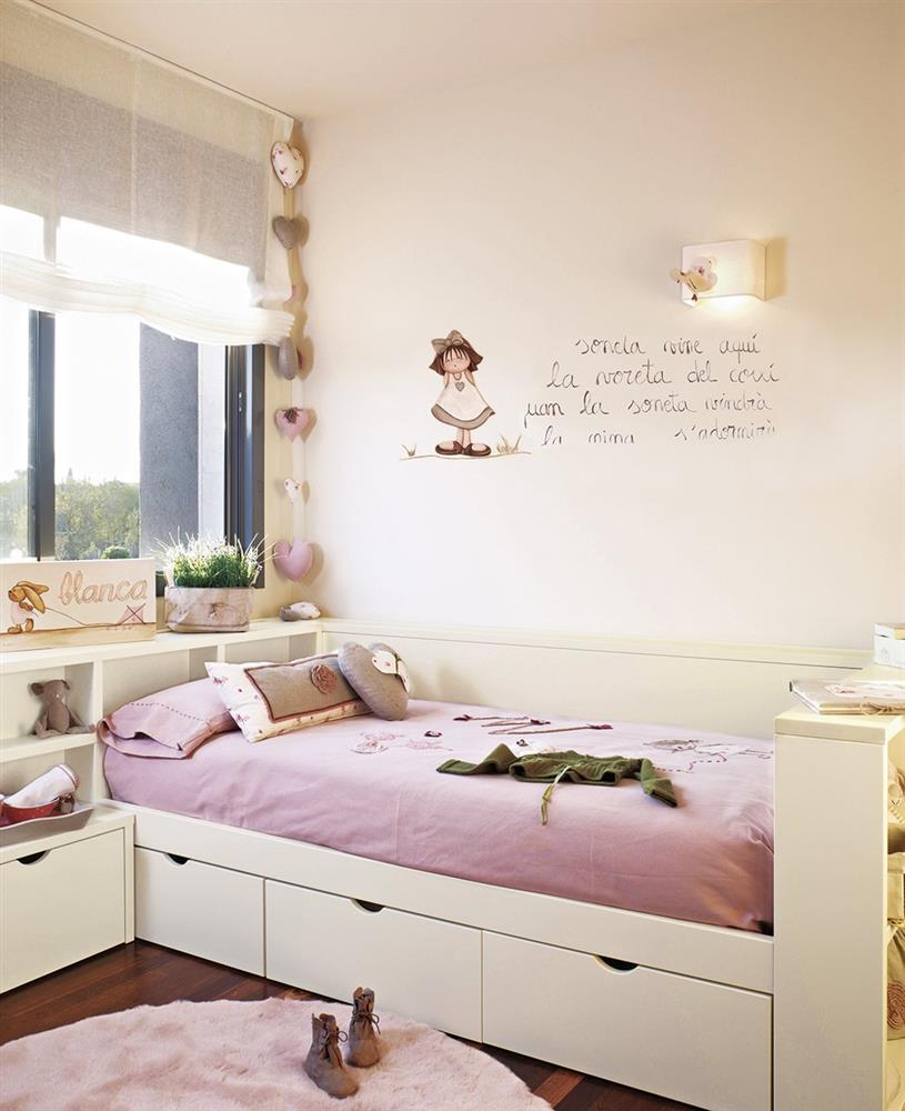 Cải tạo phòng ngủ cho bé gái: Bố mẹ chẳng cần cầu kỳ hoặc đầu tư tốn kém mà vẫn khiến con thích mê-8