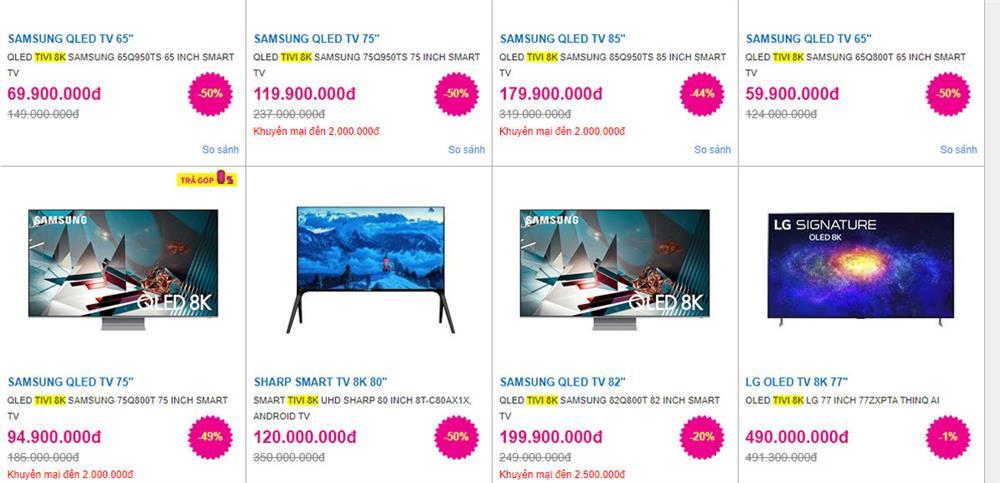 Tivi hạng sang giảm giá sâu, sale 50% coi chừng dính hàng tồn-1