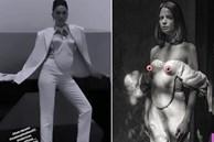 Ngọc Trinh mặc áo mà nhìn như đang xách ngực ai đó lên cổ!