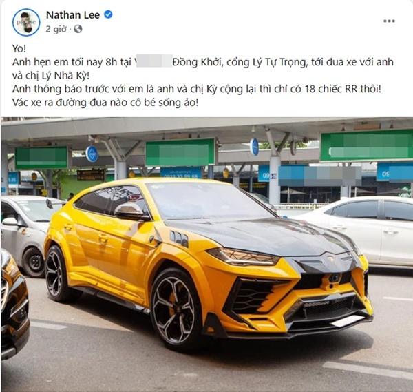 Nathan Lee thách thức đưa Rolls Royce 30 tỷ ra đua, Ngọc Trinh đáp trả luôn bằng hành động này-1