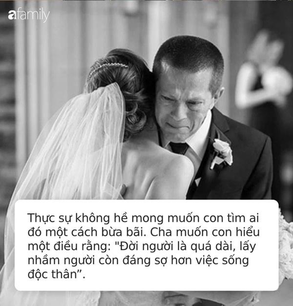 Bức thư cha gửi con gái 30 tuổi chưa kết hôn bão like trên MXH: Cha thà để con không lấy chồng còn hơn là có một cuộc hôn nhân mù quáng!-1