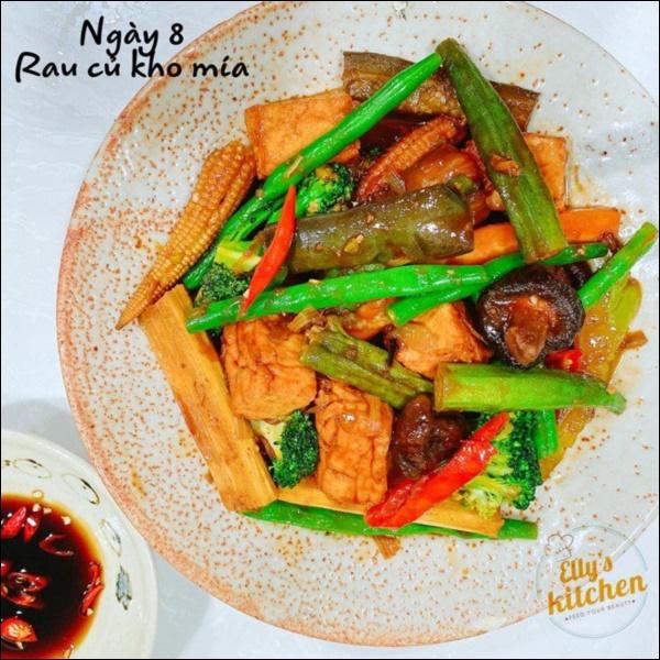 Nấu đồ ăn chay siêu đỉnh như Elly Trần, món nào cũng đầy màu sắc hấp dẫn nhưng vẫn đảm bảo thanh đạm miễn bàn-7
