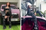 Ngọc Trinh tạo dáng bên Rolls-Royce, dân tình soi ra đồ cô mặc là đạo nhái