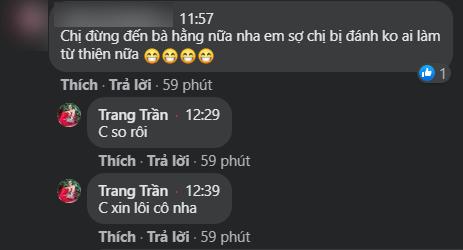 Sau những phát ngôn gang thép sáng nay của vợ ông Dũng lò vôi, Trang Khàn đã có câu trả lời đầu tiên liên quan đến sự việc-1