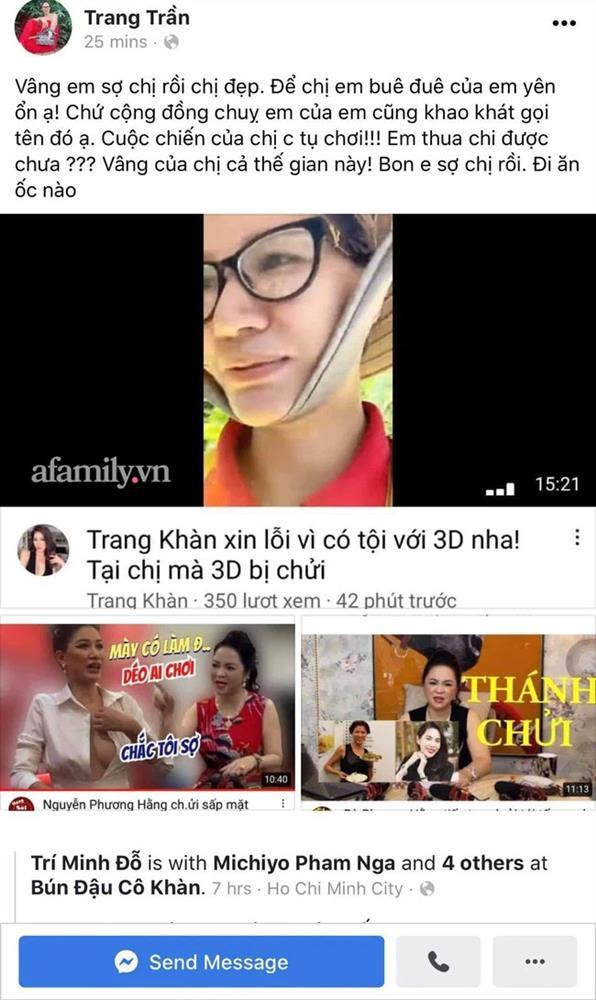 Trang Khàn khoá Fanpage sau 30 phút đăng trạng thái nhắc tới vợ Dũng lò vôi: Em thua chị được chưa?-2