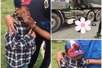Bé gái đạp xe từ trong ngõ ra đường lớn đúng lúc chiếc xe tải chồm tới, may mắn tránh được tai nạn kinh hoàng vì cái... giật mình-2